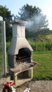 BBQ op terras